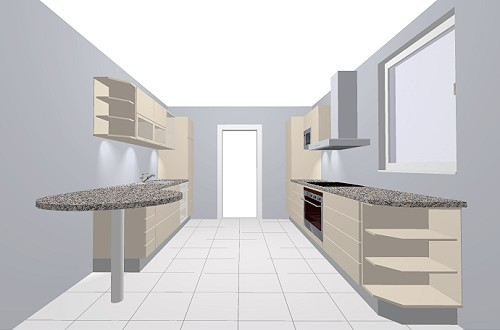 nobilia integra 864 k che grifflose front in wei em mattlack. Black Bedroom Furniture Sets. Home Design Ideas