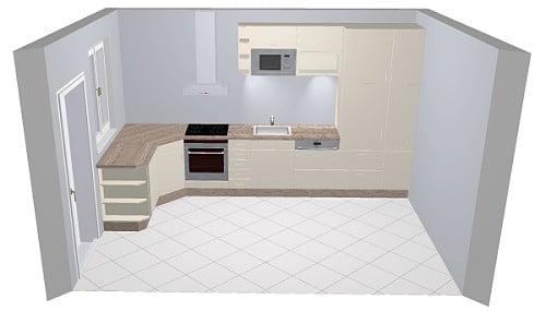 Nobilia Arte 522 / 543 Küche: Hochglanz-Front in Magnolia oder Weiß | {Küchen hängeschrank glas nobilia 74}