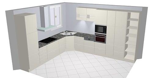 nobilia primo 671 k che hochglanz in bordeaux rot. Black Bedroom Furniture Sets. Home Design Ideas