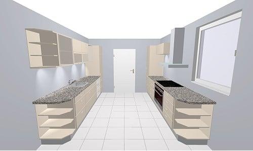 Nobilia Vetra 951 Küche Glasfront in weiß Hochglanz