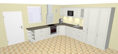 Nobilia Targa 791 Küche: Rahmenfront in Hochglanz