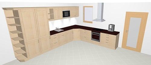 nolte high wood k che echtholz im landhausstil. Black Bedroom Furniture Sets. Home Design Ideas