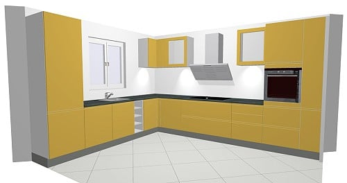 nolte nova lack k che in hochglanz und wahlweise grifflos. Black Bedroom Furniture Sets. Home Design Ideas