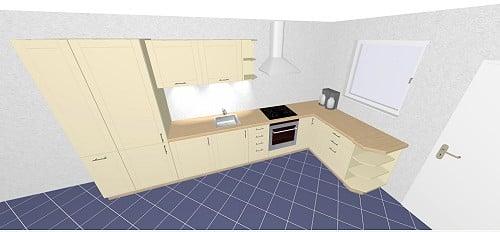 nolte trend line plus k che in 53m magnolia hochglanz. Black Bedroom Furniture Sets. Home Design Ideas