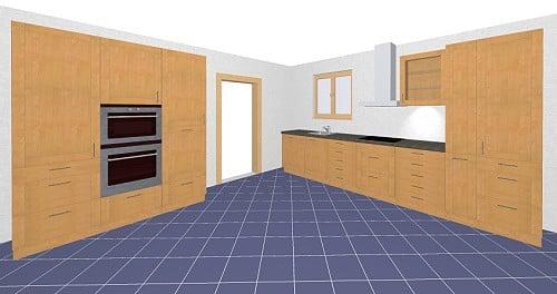sch ller bari k che klassisches modell mit holzoptik. Black Bedroom Furniture Sets. Home Design Ideas