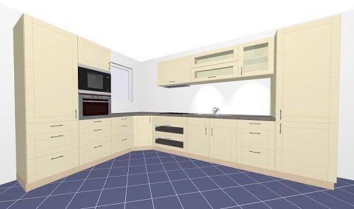 sch ller domus k che in lack seidenglanz. Black Bedroom Furniture Sets. Home Design Ideas