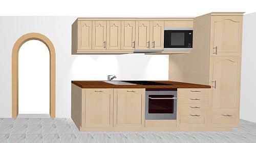 sch ller tauern landhausk che in fichte massiv. Black Bedroom Furniture Sets. Home Design Ideas