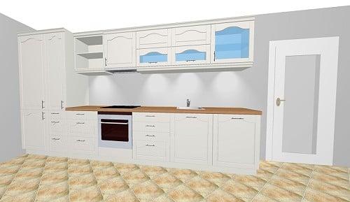 h cker breda landhausk che in magnolie wei matt. Black Bedroom Furniture Sets. Home Design Ideas
