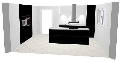 h cker cristall k che echtlack in hochglanz. Black Bedroom Furniture Sets. Home Design Ideas