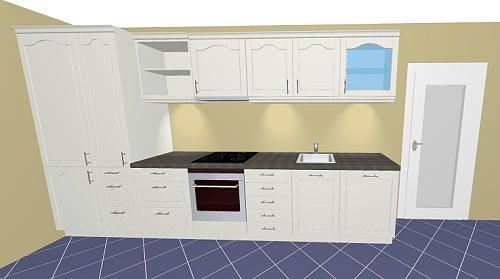 h cker lotus k che rahmendesign in 4 trendfarben. Black Bedroom Furniture Sets. Home Design Ideas