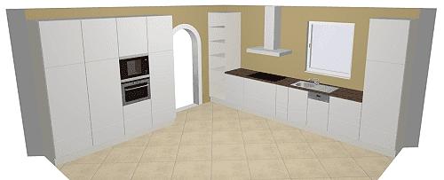 Häcker Integrale Küche: Uni in Perlgrau und Weiß