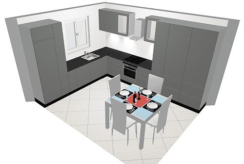 L-Küche Nolte Stone