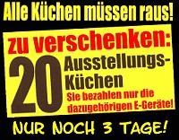 Ausstellungsküchen kaufen im Küchenabverkauf
