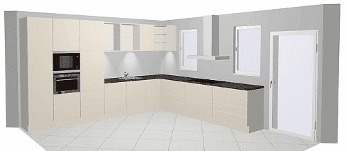 Frei geplante Küche - Modell Nobilia Speed
