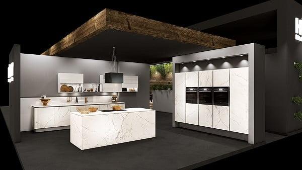 Häcker Küchen - AV 8000 grifflos in Calacatta
