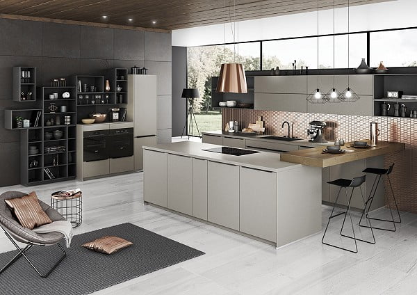 Artego Küche Steel in Titan