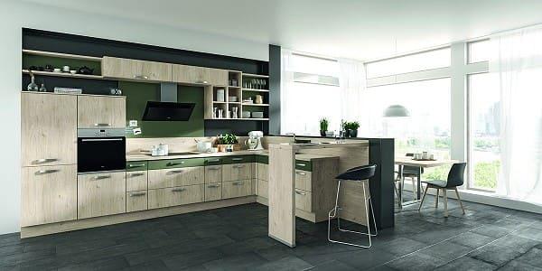 Impuls Küche IP 1200 in Seeahorn Dekor