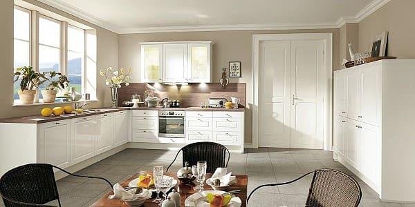 Impuls Küche IP 4810 in Weiß Hochglanz