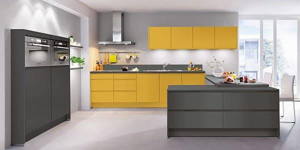Impuls Küche IP 6810 CK in Lack Currygelb