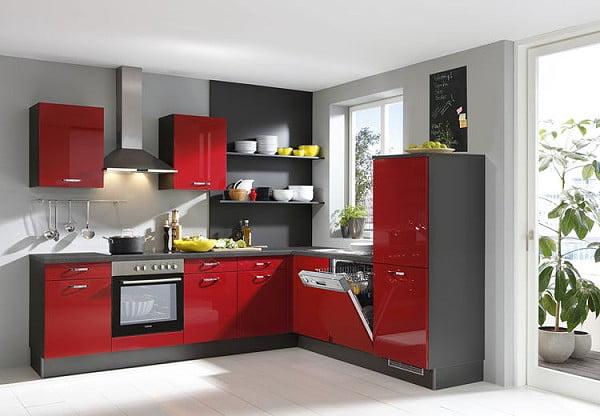 Pino Küche PN 270 in Rot Hochglanz