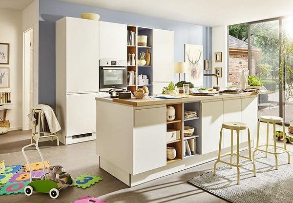 Pino Küche PN 490 in Lack Weiß matt